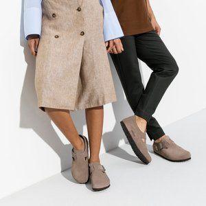 Birkenstock London Suede Clog Shoes